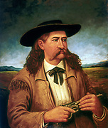 James Butler 'Wild Bill' Hickock (1837-1876) American scout and lawman. Painting from life by Henry H Cross 1874. Thomas Gilcrease Institute, Tulsa, Oklahoma