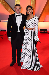 Nathan Massey (left) and Cara De La Hoyde attending the National Television Awards 2019 held at the O2 Arena, London. PRESS ASSOCIATION PHOTO. Picture date: Tuesday January 22, 2019. See PA story SHOWBIZ NTAs. Photo credit should read: Ian West/PA Wire