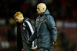 Wolves Manager Stale Solbakke (NOR) leaves the pitch after his sides win in the match - Photo mandatory by-line: Rogan Thomson/JMP - Tel: Mobile: 07966 386802 01/12/2012 - SPORT - FOOTBALL - Ashton Gate - Bristol. Bristol City v Wolverhampton Wanderers - npower Championship.