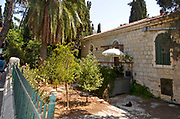 Exterior of a house in Emek Refaim Street (The German Colony) Jerusalem, Israel. This neighbourhood was established in the second half of the 19th century by members of the German Temple Society.