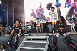August 10, 2018 - San Francisco, California, U.S - CHAD HUGO and PHARRELL WILLIAMS of N.E.R.D. during Outside Lands Music Festival at Golden Gate Park in San Francisco, California (Credit Image: © Daniel DeSlover via ZUMA Wire)