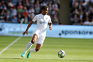 Kyle Naughton of Swansea city in action.Premier league match, Swansea city v Chelsea at the Liberty Stadium in Swansea, South Wales on Sunday 11th Sept 2016.<br /> pic by  Andrew Orchard, Andrew Orchard sports photography.