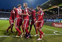 Fotball<br /> Tyskland<br /> Foto: Witters/Digitalsport<br /> NORWAY ONLY<br /> <br /> 0:1 Jubel v.l. Marvin Matip, Florent Hadergjonaj, Torschuetze Moritz Hartmann (verdeckt), Lukas Hinterseer, Roger, Mathew Leckie (Ingolstadt)<br /> Darmstadt, 19.11.2016, Fussball, Bundesliga, SV Darmstadt 98 - FC Ingolstadt 04