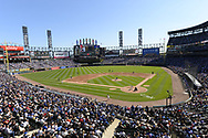 CHICAGO - SEPTEMBER 23:  A general view of Guaranteed Rate Field as a sold out crowd of 39,449 watch the Chicago White Sox play the Chicago Cubs on September 23, 2018 at Guaranteed Rate Field in Chicago, Illinois.  (Photo by Ron Vesely/MLB Photos via Getty Images)