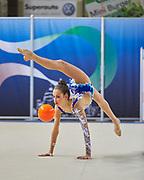 Rachele Boldrini from Putinati team during the Italian Rhythmic Gymnastics Championship in Padova, 25 November 2017.