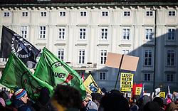 02.11.2017, AUT, Demonstration während der Angelobung der neuen Bundesregierung, im Bild Demonstranten mit Schildern // demonstration during the inauguration of the new federal government at the Heldenplatz in Vienna, Austria on 2017/12/18. EXPA Pictures © 2017, PhotoCredit: EXPA/ Florian Schroetter