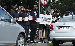 South Africa - Cape Town - 24 August 2020 - A few young men from Rondebosch Boys' High School, picketed along Campground Road against Gander Based Violence. Photographer: Armand Hough/African News Agency(ANA)