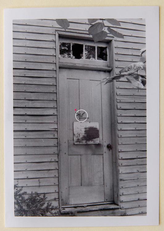 Bridge Church Door, Lawrence County Indiana, Warren E Roberts