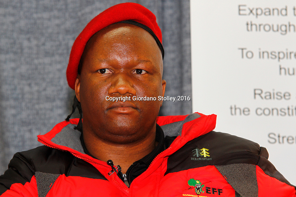 DURBAN - 17 June 2016 - Marshall Dlamini, a parliamentarian from the Economic Freedom Fighters party which advocates that all land in South Africa should be expropriated without compensation, nationalised and remain the property of the State, speaks at a debate on South Africa's land reform process at the University of KwaZulu-Natal. Picture: Allied Picture Press/APP