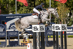 Breton Anne Claire, CAN, Incredible Blue<br /> Belgian Championship 7 years old horses<br /> SenTower Park - Opglabbeek 2020<br /> © Hippo Foto - Dirk Caremans<br />  13/09/2020