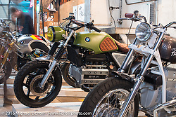 1985 Custom BMW K100 from Vintage Steale / Papa Wolf on display at the One Show motorcycle show in Portland, OR. February 13, 2016. ©2016 Michael Lichter