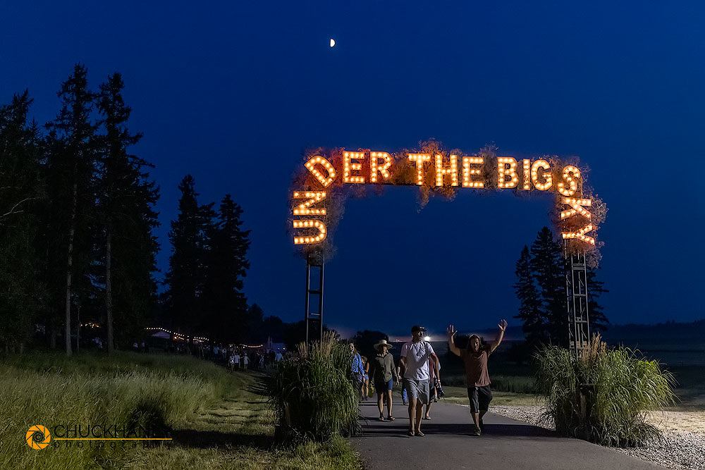 Festival goers departing at the Under The Big Sky Music Festival in Whitefish, Montana, USA