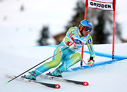 Andrej Jerman of Slovenia during the Men's Super-G of the Audi FIS Ski World Cup Val Gardena 2009/10, on Friday, December 18, 2009 in Val Gardena  - Groeden, Italy. The Audi FIS Ski World Cup 2009/10 is taking place in South Tyrol until Monday the 21st of December 2009. (Photo by Pierre Teyssot / Sportida.com)
