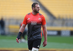 New Zealand's Kieran Read during the captain's run at the Westpac Stadium, Wellington.