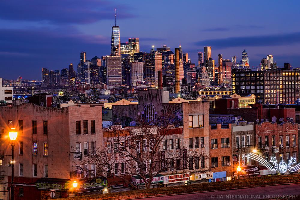 Lower Manhattan Skyline from Sunset Park, Brooklyn