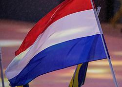 21-08-2016 BRA: Olympic Games day 22, Rio de Janeiro<br /> Rio neemt afscheid van de Olympische Spelen, sluitingsceremonie met veel dans, muziek en saaiheid / Nederlandse vlag