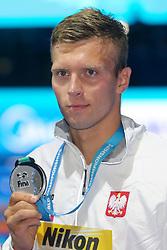 July 26, 2017 - Budapest, Hungary - Wojciech Wojdak (POL) wins the Bronze medal on Men's 800 m Freestyle during the 17th FINA World Championships, at Duna Arena, in Budapest, Hungary, Day 13, on July 26th, 2017, (Credit Image: © Foto Olimpik/NurPhoto via ZUMA Press)