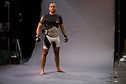 LAS VEGAS, NV - JULY 7:  Eddie Alvarez poses for a portrait after defeating Rafael dos Anos and becoming the UFC lightweight champion during UFC Fight Night at MGM Grand Garden Arena on July 7, 2016 in Las Vegas, Nevada. (Photo by Cooper Neill/Zuffa LLC/Zuffa LLC via Getty Images) *** Local Caption *** Eddie Alvarez