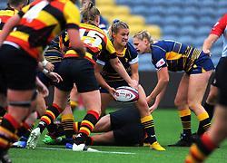 Brooke Bradley of Worcester Valkyries looks for a pass - Mandatory by-line: Nizaam Jones/JMP - 22/09/2018 - RUGBY - Sixways Stadium - Worcester, England - Worcester Valkyries v Richmond Women - Tyrrells Premier 15s