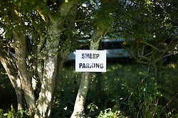 © Licensed to London News Pictures.15/08/15<br /> Rosedale, UK. <br /> <br /> A sign fixed to a bush during the Rosedale Country Show. This mainstay annual event remains as popular as ever attracting visitors and entrants from across the region.<br /> <br /> Photo credit : Ian Forsyth/LNP