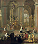 View of the High Altar of the Cathedral of Notre Dame , Paris'. Jean-Baptiste Jouvenet (1644-1717) French painter.