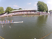 Henley on Thames. United Kingdom.   Temple Challenge Cup. Harvard University  and Newcastle university, passing through the Stewards Enclosure, 2013 Henley Royal Regatta, Henley Reach. 10:19:42  Saturday  16/04/2011  [Mandatory Credit Peter Spurrier/ Intersport Images]
