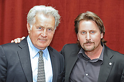 © under license to London News Pictures. 21/02/11.American actor Martin Sheen, famous for his TV role as US President JFK. poses with his son Emilio Estevez who directed him in the forthcoming movie 'The Way' which had its UK premiere tonight at the British Film Institute (BFI) on the Southbank, London.Photo credit should read Theodore Wood/LNP