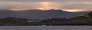 Sunrise over Langeneset, Runde, Norway   Soloppgang over Langeneset på Runde, med Christineborg Gjesthus AS litt til venstre for midten.