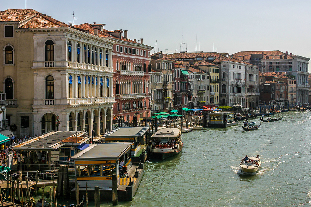 The Grand Canal palaces in Venice, Italy. The Grand Canal, afforded easier transport and access to shipping, tended to favor the kind of residents who were large-scale merchants--the very ones likely to have more money.