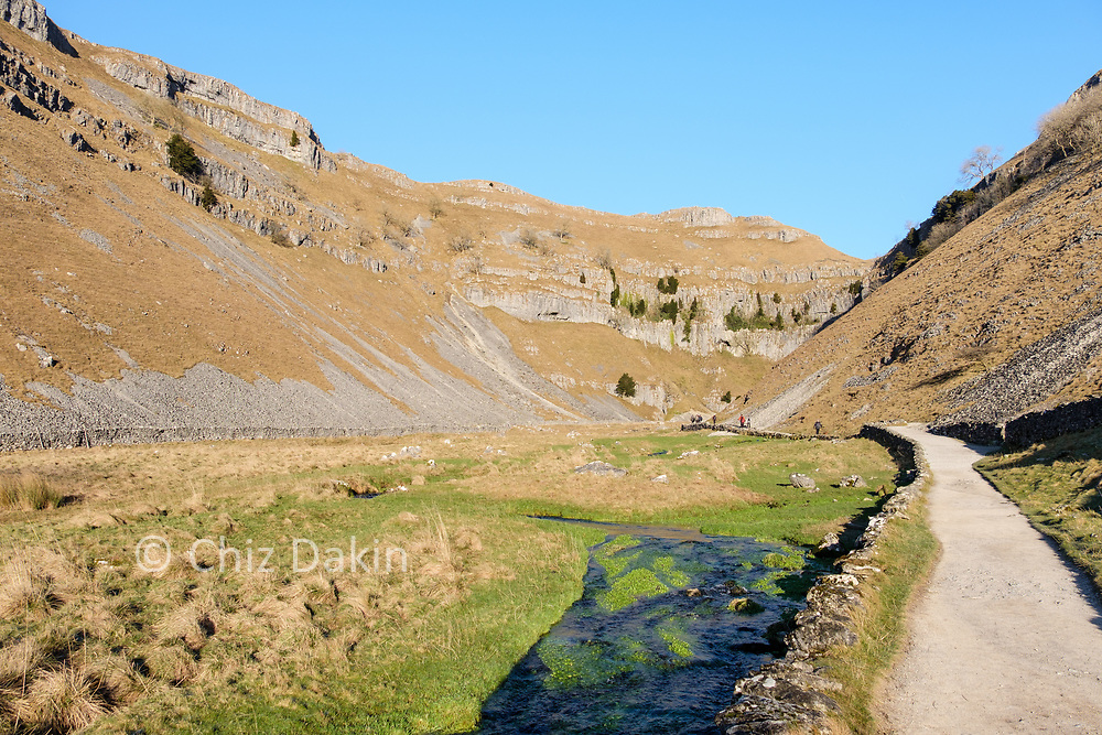 The impressive gorge of Gordale Scar is usually much busier than this!
