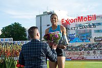 Friidrett<br /> 11. Juni 2015<br /> Exxon Mobil Bislett Games<br /> Kaliese Spencer , Vinner av 400 m hinder / hurdles<br /> Foto: Astrid M. Nordhaug