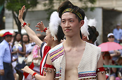 May 26, 2019 - New York, New York, U.S - Dancers at the Passport to Taiwan Festival at Union Square Park in New York City. (Credit Image: © Staton Rabin/ZUMA Wire)