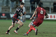 Sam Beard of the Newport Gwent Dragons takes on Nasi Manu of Edinburgh. Guinness Pro12 rugby match, Newport Gwent Dragons  v Edinburgh rugby at Rodney Parade in Newport, South Wales on Sunday 27th November 2016.<br /> pic by Simon Latham, Andrew Orchard sports photography.