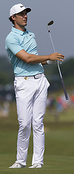 June 15, 2017 - USA - Jamie Lovemark hits onto the 18th green during the first round of the U.S. Open golf tournament Thursday, June 15, 2017 at Erin Hills in Hartford, Wis. He birdied the hole and finished the day three under par. (Credit Image: © Mark Hoffman/TNS via ZUMA Wire)