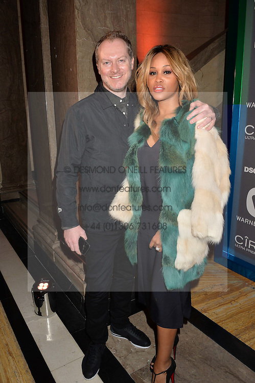 Singer EVE and MAX COOPER at the Warner Music Group & Ciroc Vodka Brit Awards After Party held at The Freemason's Hall, 60 Great Queen St, London on 24th February 2016.