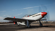 North American P-51 Mustang of the Erickson Aircraft Collection, starting up.