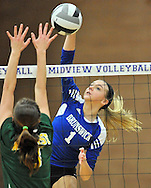 Amherst vs. Brunswick varsity volleyball on October 23, 2012. Images © David Richard and may not be copied, posted, published or printed without permission.