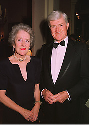 LORD & LADY PARKINSON at a reception in London on 11th June 1998.<br /> MIG 74