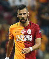 UEFA Champions League Group C football match between Galatasaray and Atletico Madrid at Turkk Telekom Arena in Istanbul, Turkey, 15 September 2015<br /> Final Score: Galatasaray 0 - Atletico Madrid 2<br /> Pictured: Yasin Oztekin of Galatasaray.