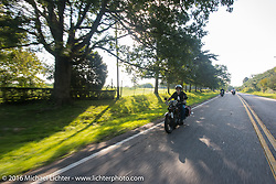 Peter Reeves riding his 1929 Harley-Davidson JD during Stage 4 of the Motorcycle Cannonball Cross-Country Endurance Run, which on this day ran from Chatanooga to Clarksville, TN., USA. Monday, September 8, 2014.  Photography ©2014 Michael Lichter.
