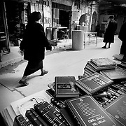 Books in the bazaar of Mea Shearim with books of sacred character. Jerusalem.