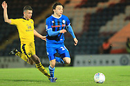 Ollie Rathbone bursts forward  during the EFL Sky Bet League 1 match between Rochdale and Oxford United at Spotland, Rochdale, England on 12 March 2019.