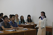 JIUJIANG, CHINA - JUNE 03: (CHINA OUT)<br /> <br /> Robot Teacher speaks to students in a classroom at Jiujiang University<br /> <br /> A humanoid robot called Xiao Mei speaks to students in a classroom at Jiujiang University on June 3, 2015 in Jiujiang, Jiangxi Province of China. The robot was created by the university\'s School of Information Science and Technology in over one month. The robot can give students a lesson following PowerPoint and make simple contact with students.<br /> ©Exclusivepix Media