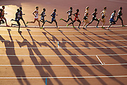 Mcc0055084 . Daily Telegraph<br /> <br /> The sun sets on the Men's 10,000m Final on Day 9 of the 2014 Commonwealth Games in Glasgow .<br /> <br /> <br /> Glasgow 1 August 2014