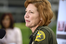 Jan. 27, 2016 - Santa Ana, California, USA - Orange County Sheriff Sandra Hutchens answers questions on Wednesday during a press conference about three inmates who escaped the Central MenÃ•s Jail in Santa Ana. ..The three inmates, all charged with violent crimes, made their escape on Friday, shortly after the 5 a.m. head count....///ADDITIONAL INFORMATION: Slug: jailbreakdaily.0128.jag, Day: Wednesday, January 27, 2016 (1/27/16), Time: 5:14:23 PM, Location:  Santa Ana, California - Jailbreak - JEFF GRITCHEN, STAFF Jeff Gritchen (Credit Image: © Jeff Gritchen/The Orange County Register via ZUMA Wire)