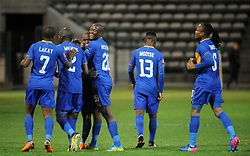 Cape Town 18-03-03 Cape Town City players celebrating after Ayanda Patosi scored against chippa united in the PSL Game In Athlone Staduim Pictures Ayanda Ndamane African news agency/ANA