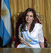 Cristina Elisabet Fernández de Kirchner  born 19 February 1953), commonly known as Cristina Fernández or Cristina Kirchner,55th President of Argentina and the widow of former President Néstor Kirchner. She is Argentina's first elected female President, and the second female President ever to serve (after Isabel Martínez de Perón, 1974–1976).
