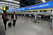 Terminal five at Heathrow Airport, London.