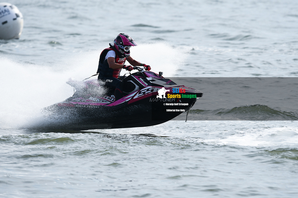 PATTAYA, THAILAND - DECEMBER 09: Teruhisa Imai (J55) of Japan and Precious Racing in action during the Pro Runabout 1100 Open Moto4 at the Thai Airways International Jet Ski World Cup 2018, Jomtien Beach, Pattaya, Thailand on December 09, 2018. <br /> .<br /> .<br /> .<br /> (Photo by: Naratip Golf Srisupab/SEALs Sports Images)<br /> .<br /> Any image use must include a mandatory credit line adjacent to the content which should read: Naratip Golf Srisupab/SEALs Sports Images
