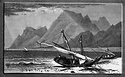 Ras Atakah This bold promontory, south of Suez, running out from Jebel Atakah, on the western shore of the Red Sea, comes into every view of Suez. Wood engraving of from 'Picturesque Palestine, Sinai and Egypt' by Wilson, Charles William, Sir, 1836-1905; Lane-Poole, Stanley, 1854-1931 Volume 4. Published in 1884 by J. S. Virtue and Co, London